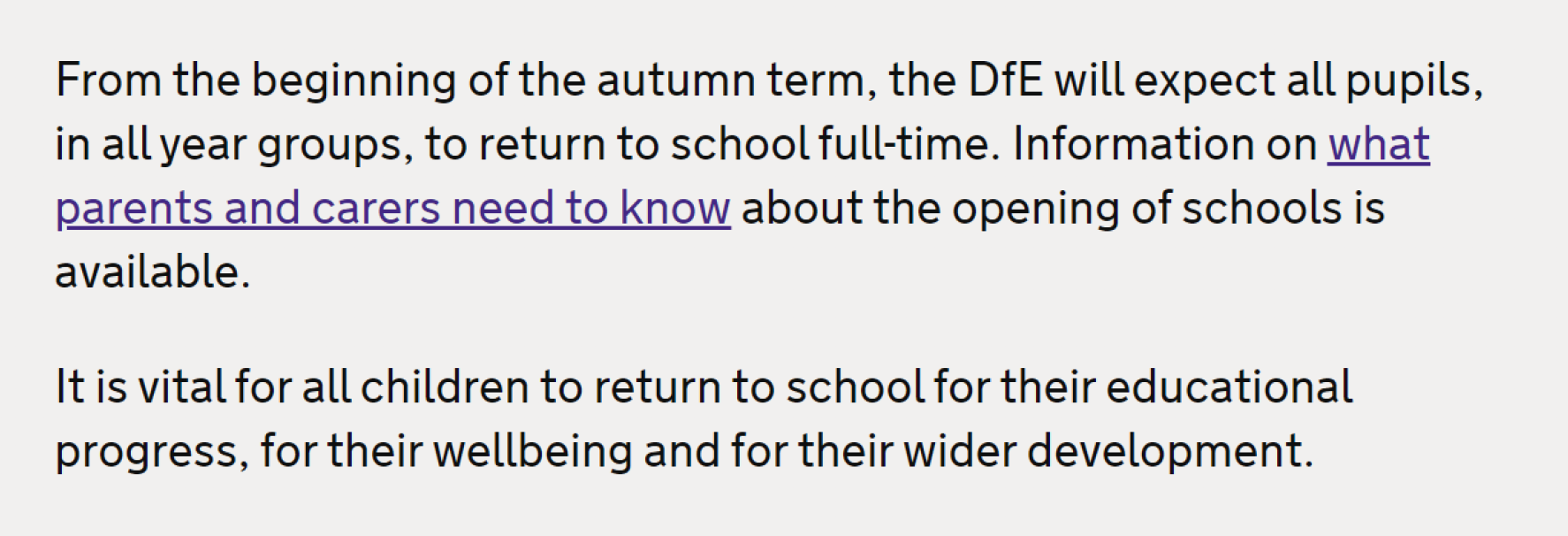 DFE Expectations.